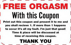 Free orgasm coupon