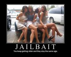 Jailbait - You keep getting older and they stay the same age