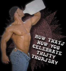 Now thats how you celebrate thirsty Thursday