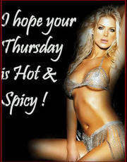 I hope your Thursday is hot & spicy!