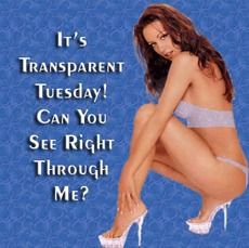 It's transparent Tuesday! Can you see right through me?