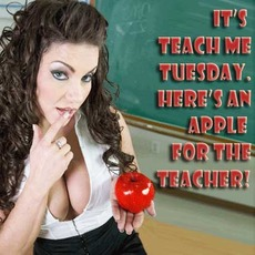 It's teach me Tuesday.  Here's an apple for the teacher!