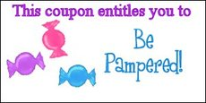 This coupon entitles you to be pampered