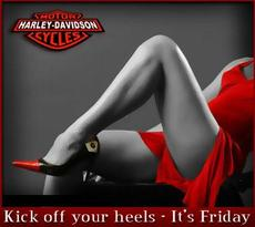 Kick off your heels it's Friday