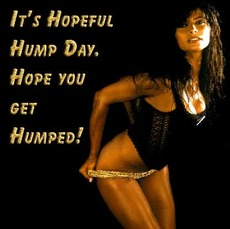 It's hopeful hump day.  Hope you get humped!